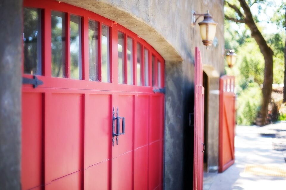 Garage Door Safety Red Door